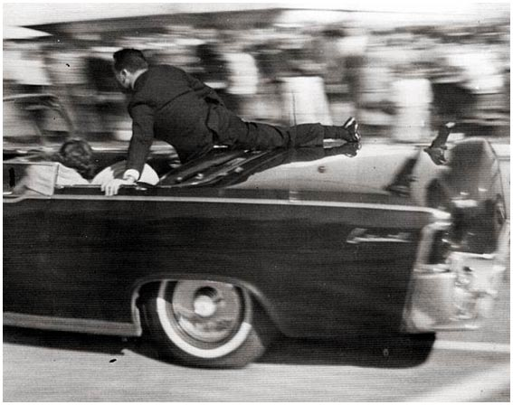 Clint Hill on JFK limo