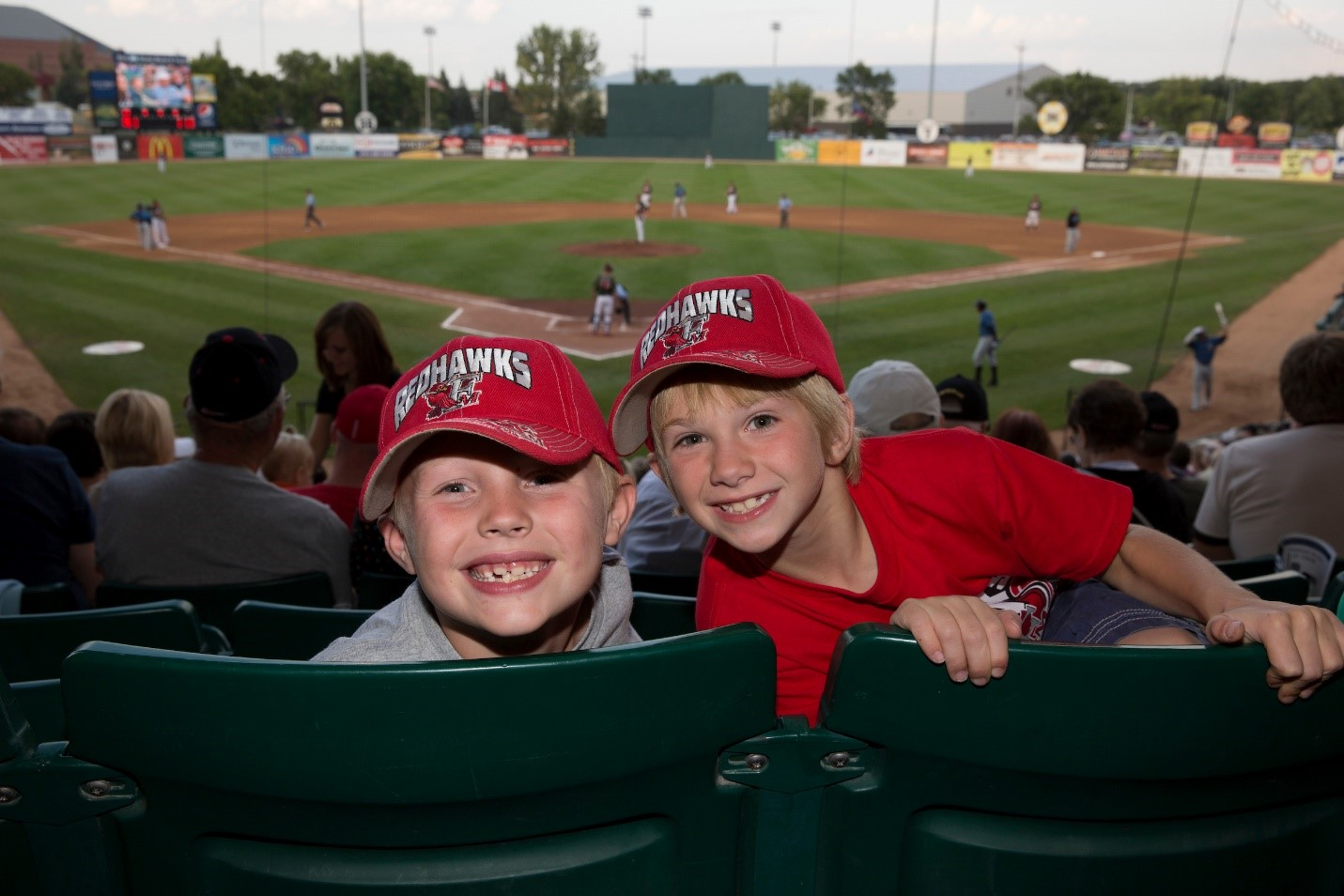 Fans enjoy a game of Fargo-Moorhead RedHawks baseball. (
