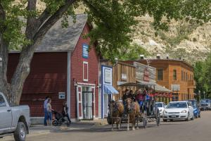 Downtown Medora has old west charm