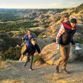 Hiking in the north unit of Theodore Roosevelt National Park